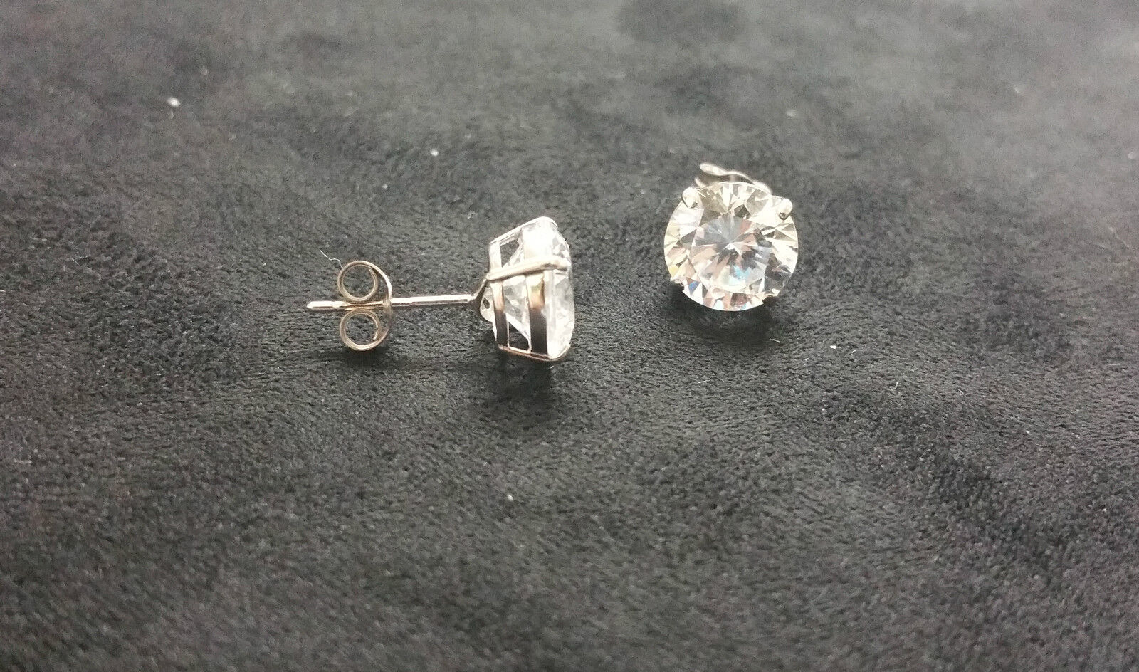 1.80CT 14K White gold Stud Lab Created Diamond Earrings Brilliant Solitaire