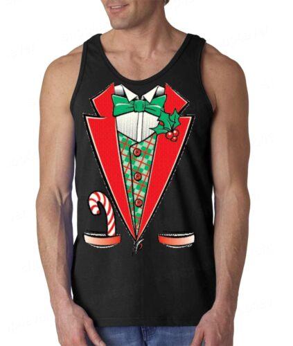 Christmas Tuxedo Men/'s Tank Top Funny Ugly Xmas Holiday Costume Festive Tanks