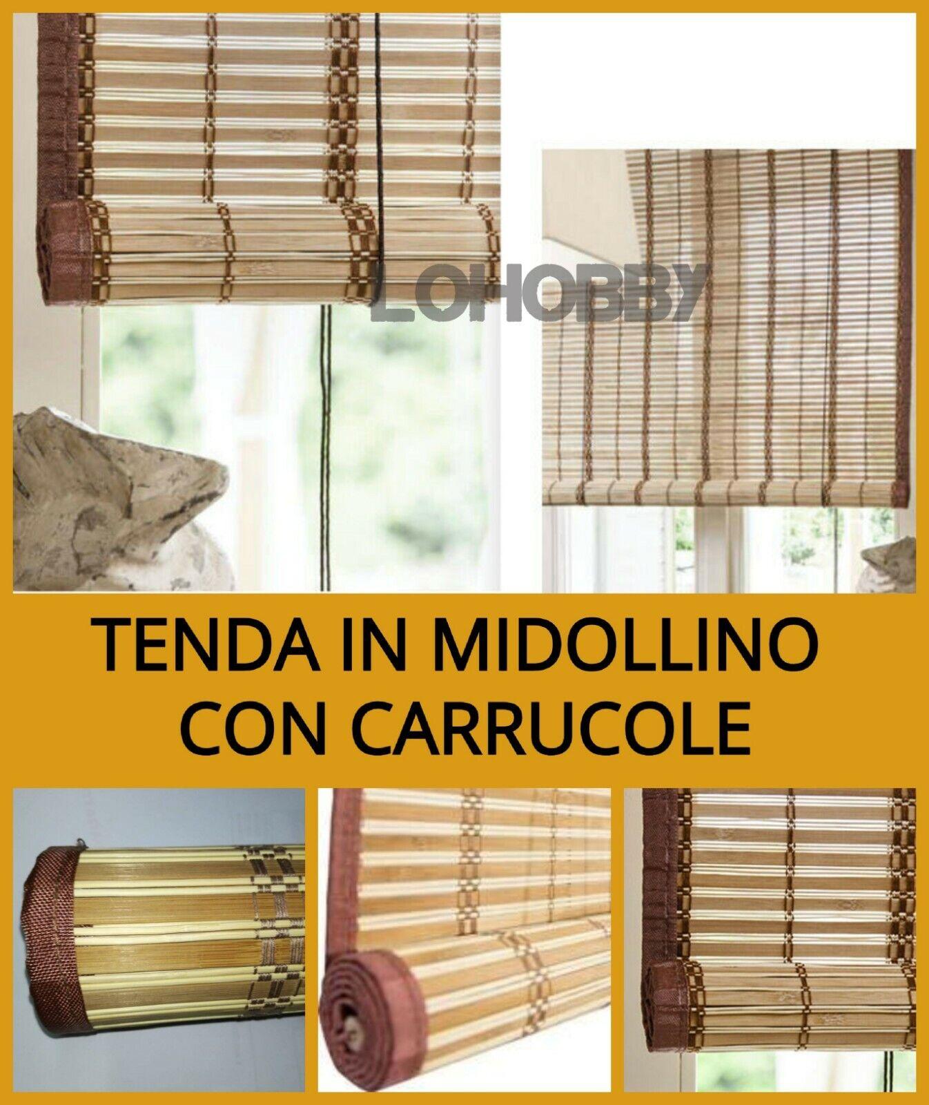 Tende In Midollino A Rullo.Tenda In Midollino Tapparella A Rullo Avvolgibile Sole Bamboo Arella Oscurante Ebay