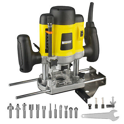 "Heavy Duty Variable Speed 1//4/"" Electric 1200w Plunge Router with Side Fence 240v"