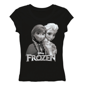 Disney Frozen Womens TShirt Elsa Anna Black and White Tee Small Medium