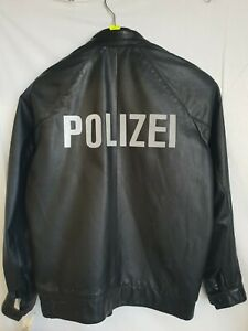 Lederjacke-Polizei-Deutschland-Gr-M