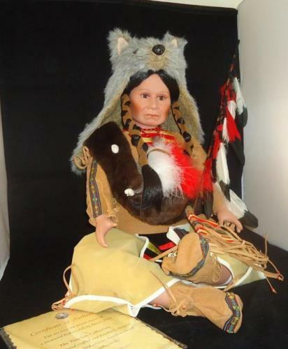 TIMELESS COLLECTIONS + BRAVE SCOUT + NATIVE INDIAN + HANDCRAFTED PORCELAIN DOLL