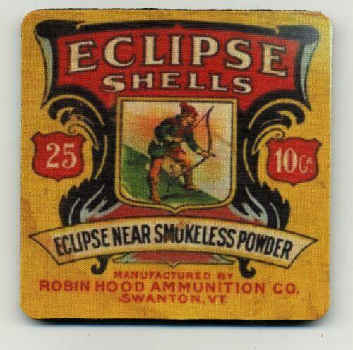 - Ammo box COASTERS -10 Ga Robin Hood Powder Co Eclipse Shells Bird Hunt