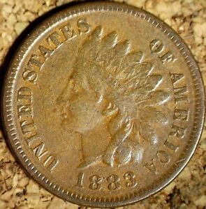 1883 Indian Head Cent - BEAUTIFUL HIGHER GRADE, EXACTLY AS SHOWN  (J523)