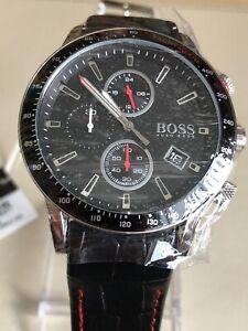 Hugo-Boss-HB1513390-Mens-Rafale-Black-Leather-Chronograph-Watch