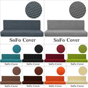 Details About Waterproof Stretch Sofa Bed Cover Full Folding Armless Elastic Futon Slipcover