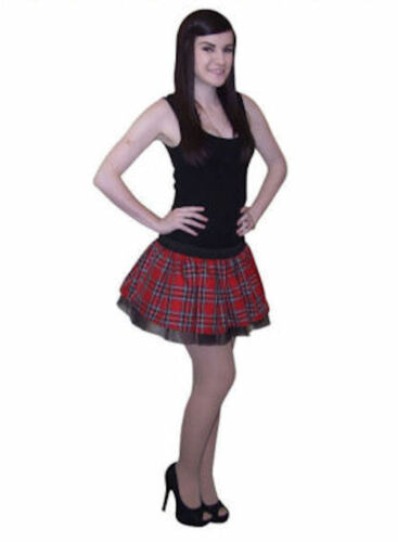 TARTAN SCOTTISH TUTU SKIRT VARIOUS SIZES LENGTHS 80S FANCY DRESS HEN PARTY WOMEN