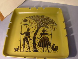 Mid Century Modern Contempo Provencette Arstockdale California Pottery Ashtray