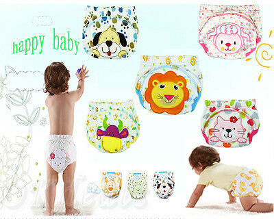 New Baby Boy Girl Infant Toilet Pee Potty Training Pants Cloth Diaper Underwear