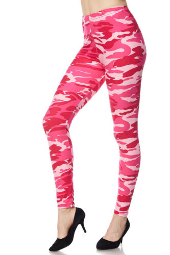 3cd52c1dbf6d6 4 of 8 PLUS SIZE Valentines Gift Print Buttery Soft Pink Camo Leggings TC  CURVY 12-18