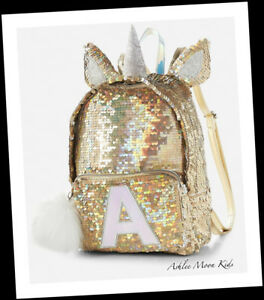CHOOSE LETTER-NWT JUSTICE Gold Unicorn Flip Sequin MINI Preschool ... 0d14bd484571d