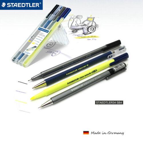 STAEDTLER Triplus 12er Fineliner 4er Highlighter 4er mobile office Ergonomisch