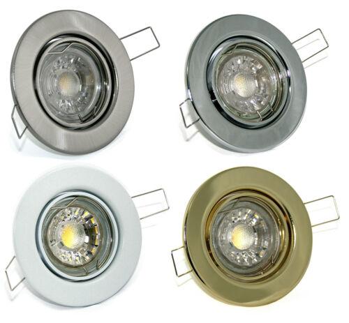 10er Set LED Einbaustrahler Tom K9222 GU10 /& 230V Glas LED-Strahler 7W = 70W