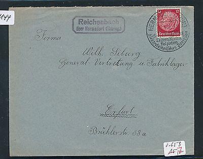 Brf 1936 thüring. Dr > Ddr Landpost Ra2 Reichenbach über Hermsdorf Der GüNstigste Preis 91144