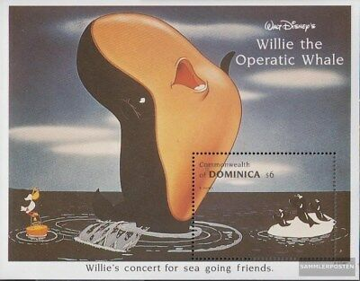 Never Hinged 1993 Walt-disne Unmounted Mint complete Issue Discreet Dominica Block252