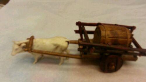 1 gruppo carro con botte per pastori landi 6-6.5 cm presepe crib shereped