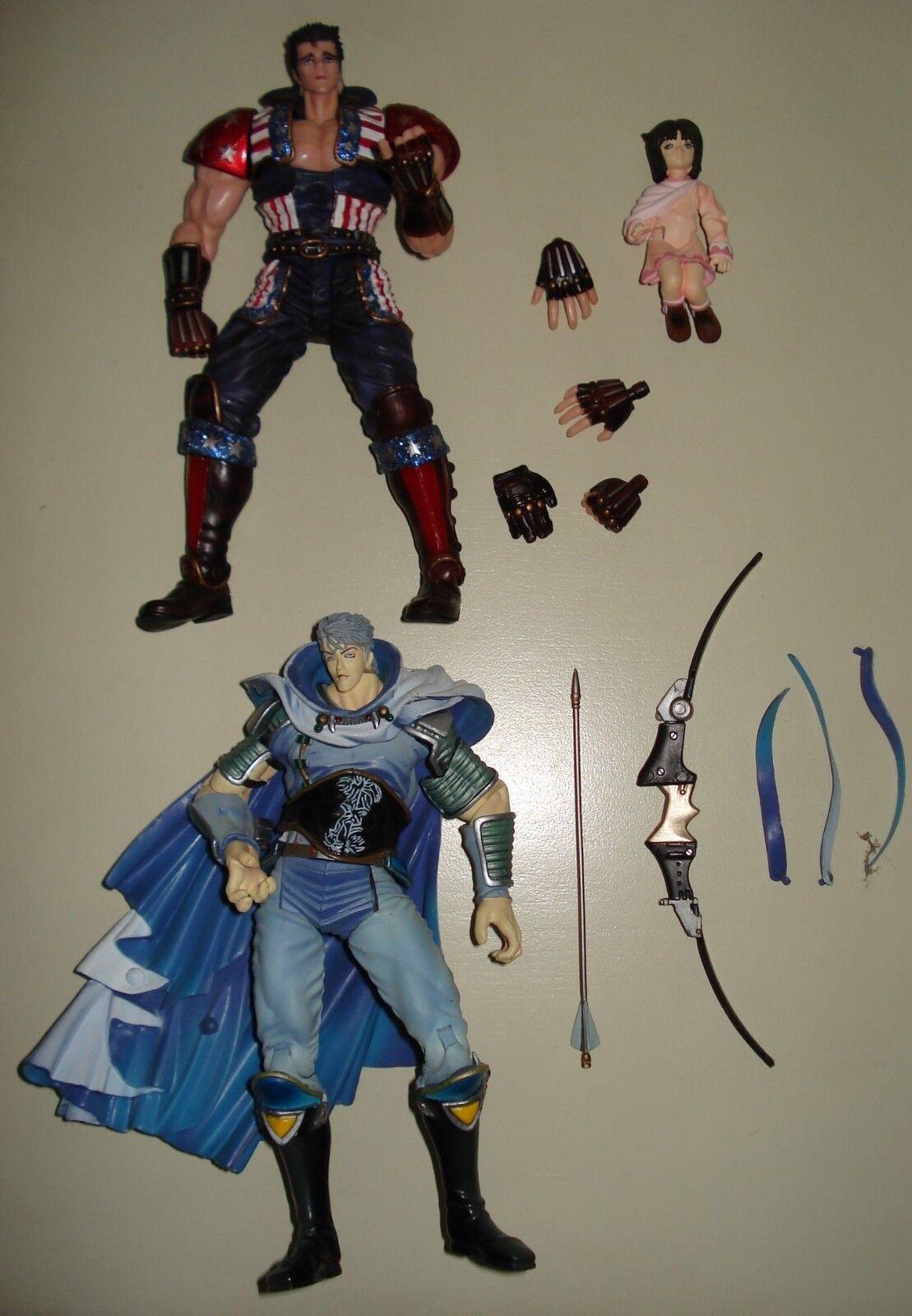 Hokuto no ken / Ken le survivant lot 4 figurines - Ruyga Ein Souther Shin