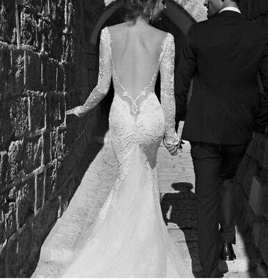 wedding dress fishtail custom made berta bridal stunning backless elegant