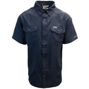 Columbia-Men-039-s-Black-Utilizer-II-Solid-Short-Sleeve-Shirt-Retail-60-00