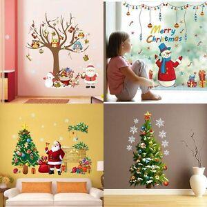 Christmas-DIY-Wall-Sticker-Santa-Xmas-Tree-Window-Home-Decor-Decal-Art-Removable