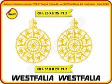 Adesivi stickers camper WESTFALIA Rosa dei venti Wind Rose 4 adesivi -Cod.0060