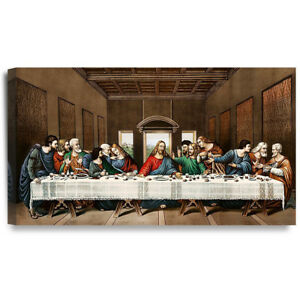 The Last Supper Canvas Painting art Classic Giclee Canvas Prints 32x18&#034;DecorArt<wbr/>s
