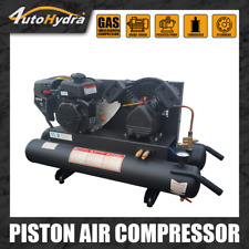 4utohydria Gas Driven Piston Air Compressor 65hp One Stage 95gal Twin Tank