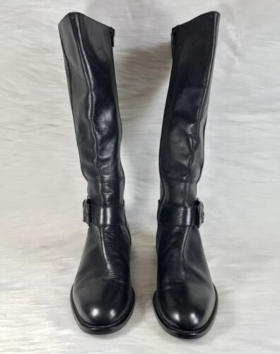 1ce35691dcb Stuart Colin Black Leather Equestrian Tall Italy Collection Riding Sz 9  Boots 5 gdqOw