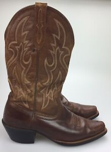 56eab281be6 Details about ARIAT ATS COWBOY BOOTS LEATHER SQUARE TOE STYLE 10005959 MENS  SIZE 8.5 D