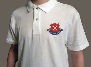 West Ham United Retro 60 S Badge Logo Polo Shirt Embroidered