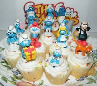 Smurf Cake Toppers Set Of 12 Fun Collectible Characters