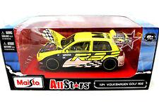 Maisto AllStars Racing Volkswagen Golf R32 Yellow / Black / White 1/24 Diecast