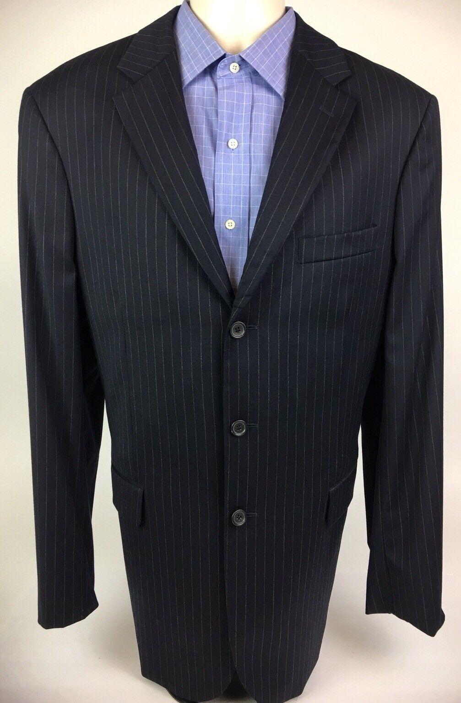 J Crew Mens New Blazer Suit Coat 3 Button Single Vent 100% Wool Navy 42L
