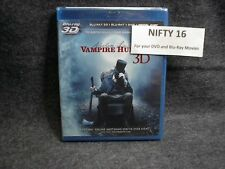 Abraham Lincoln: Vampire Hunter (Blu-ray 3D/DVD, 2012, 3-Disc Set + Digital) New