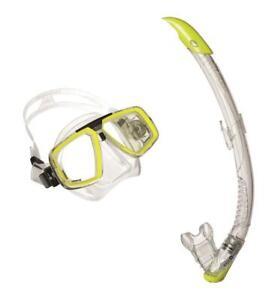 UWFUN24. Aqua Lung Schnorchelset, Maskenset Professional Set Look / Zephyr, Lime