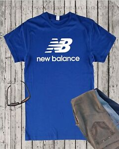 New Balance blue shirt Many colors active green gym shoes Running jogging XS-4XL
