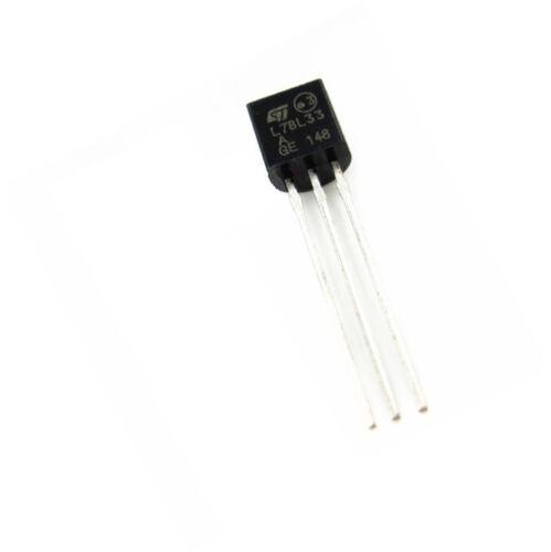 100PCS L78L33 L78L33ACZ IC REG LDO 3.3V .1A TO-92 ST NEW