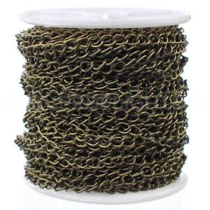 Curb Chain Spool 3x5mm Link Antique Copper Bulk Roll 100 Feet