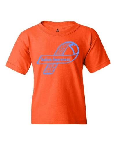 Blue Side Ribbon for Autism  Youth/'s T-Shirt Autism Awareness Month Shirts