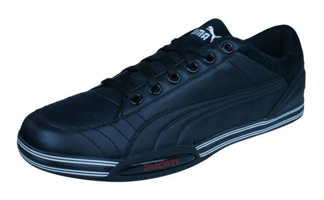 Puma 65CC Lo Ducati Mens Leather Sneaker Casual Shoes Black