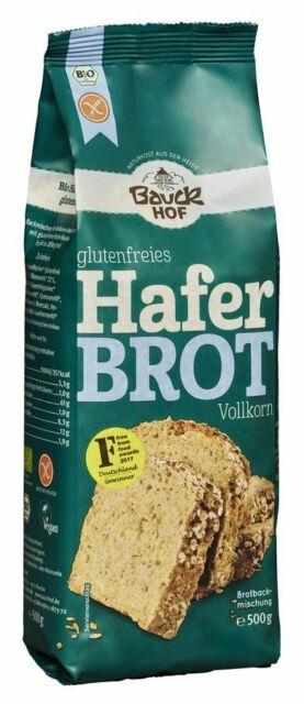 (€15.34/1Kg) Bauckhof Haferbrot Backmischung Vollkorn glutenfrei bio (500g)