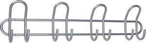 Wall Door Hooks - 8 Clothes Bags Coat Kitchen Bathroom Metal Mounted Rack Hanger