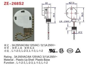 3speed Pull Chain Fan Switch Dual Capacitor Westinghouse 77288 Zing Ear Ze 268s2 602345323143 Ebay