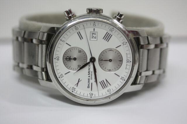 b0fc5972a3a Baume   Mercier Classima XL Chronograph Automatic Watch 42mm Swiss Steel  65591