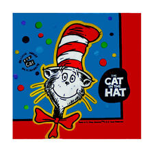 CAT IN THE HAT SMALL NAPKINS (16) ~ Birthday Party Supplies Cake Beverage Seuss