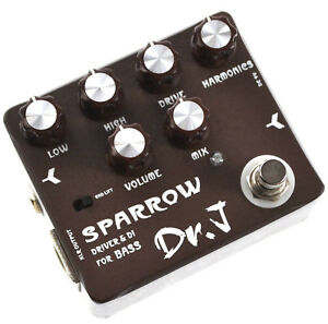 dr j d 53 sparrow bass di xlr overdrive guitar effect pedal 4260233553346 ebay. Black Bedroom Furniture Sets. Home Design Ideas