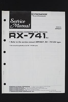 K1200lt Tape Deck Wiring Diagram : pioneer rx 741 original cassette deck receiver service ~ A.2002-acura-tl-radio.info Haus und Dekorationen