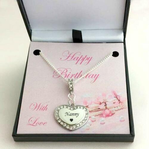 Daughter Nanny Auntie Happy Birthday Necklace for Mum Sister Mummy