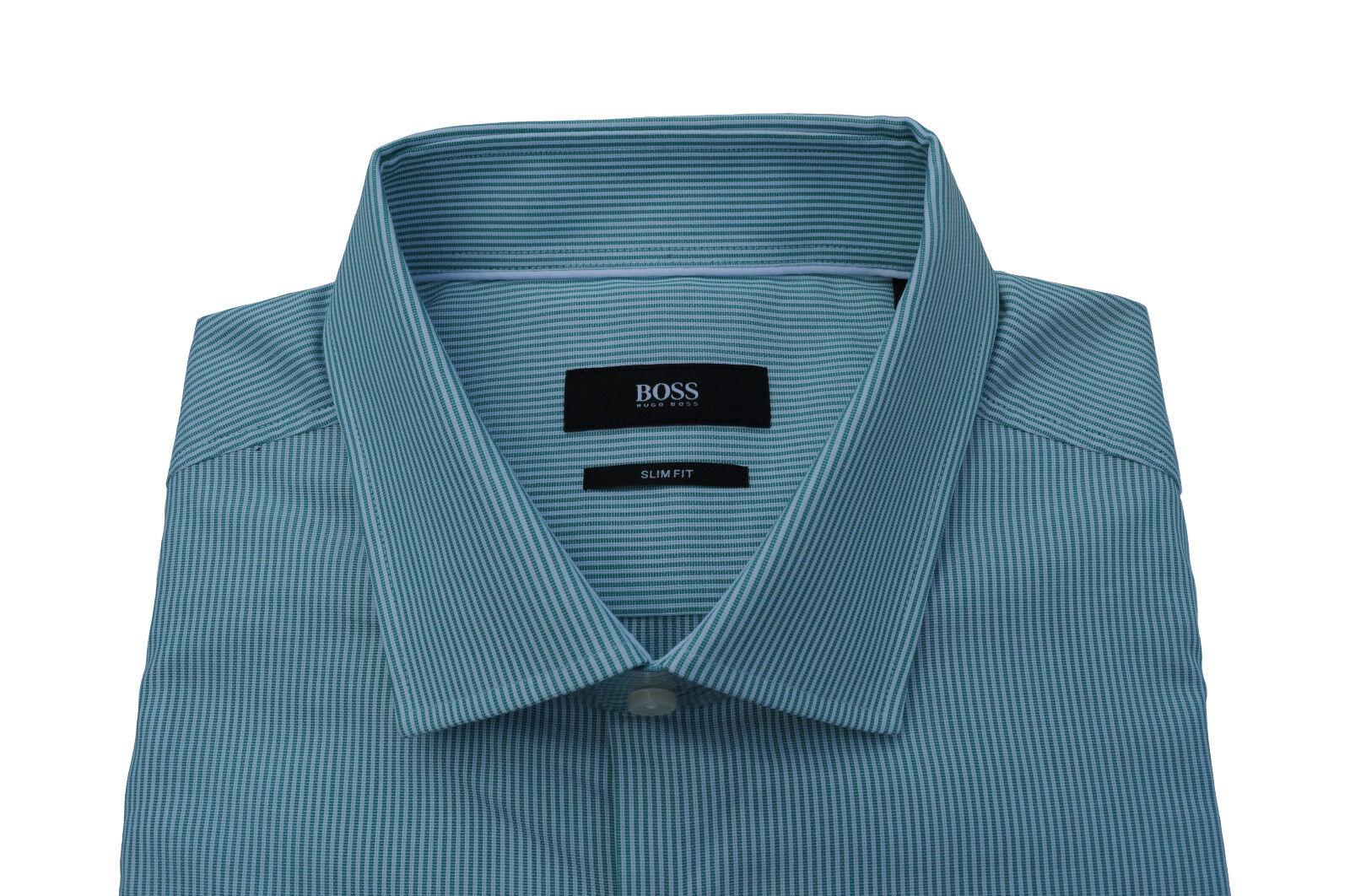 NEU NEU NEU gr. 42 HUGO BOSS HEMD JJUAN OPEN-Grün SLIM FIT zu Jeans 50310492 | Schön und charmant  95fefe